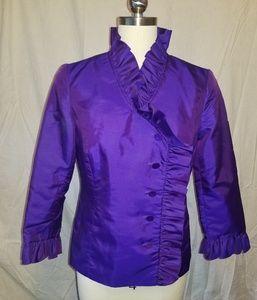 Crisp purple taffeta blouse or jacket